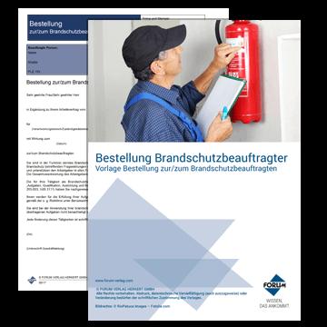 Vorlage - Bestellung zur/zum Brandschutzbeauftragten