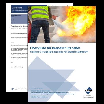 Bestellung/Aufgaben/Ausbildung für Brandschutzhelfer