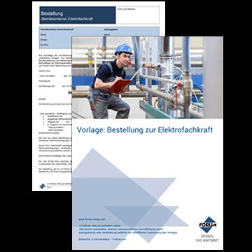 Vorlage: Bestellung zur Elektrofachkraft