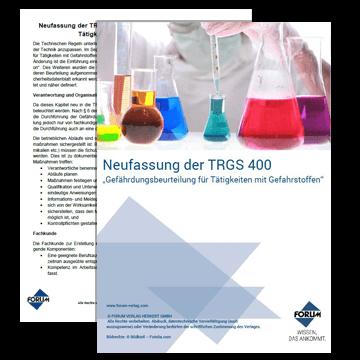 Fachartikel Neufassung der TRGS 400 + Checkliste Gefährdungsbeurteilung Gefahrstoffe